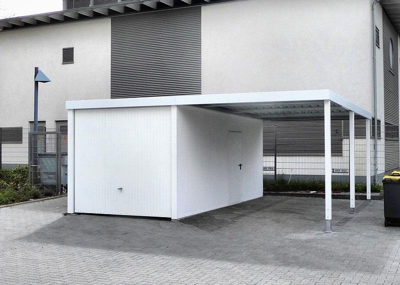 Super Carport mit Garage XL57