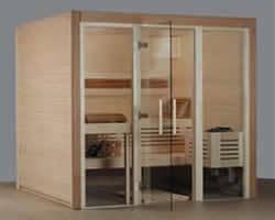 Elementsauna Design dunkel