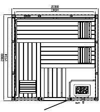 Elementsauna Premium Individuell Espe 209 x 209