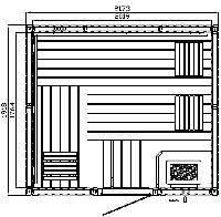Elementsauna Premium Individuell Espe 217 x 192