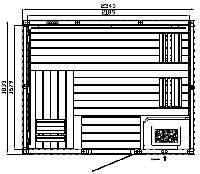 Elementsauna Premium Individuell Espe 234 x 183